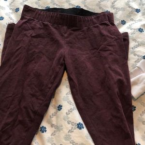 Maroon garage leggings